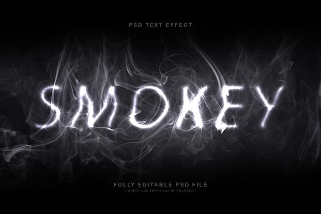 Smokey text effect