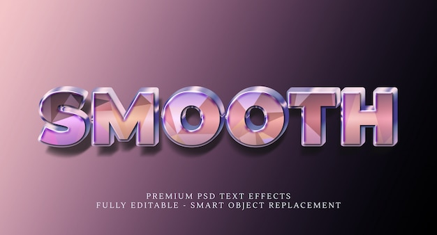 Smooth text style effect psd , premium psd text effects