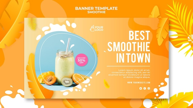 Smoothie banner style