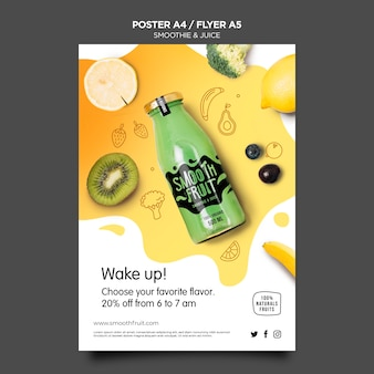 Smoothie bar flyer template