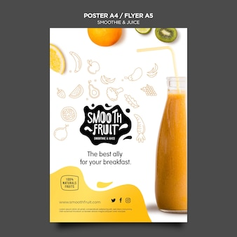 Smoothie bar poster template