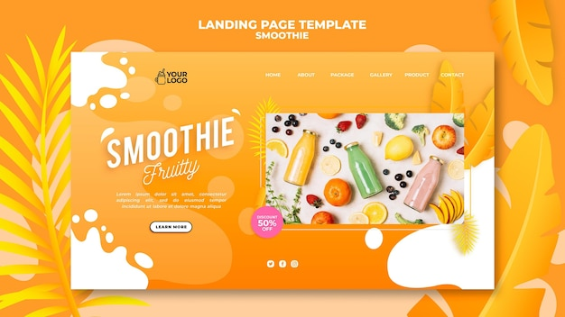 Smoothie landing page theme