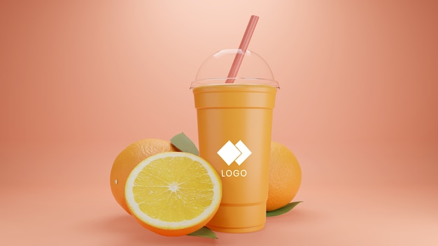 Smoothie mockup realistic
