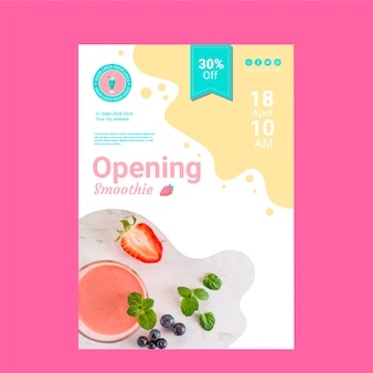 Smoothie restaurant poster template