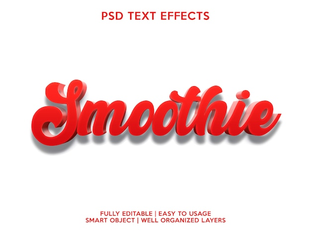 Smoothie text effect