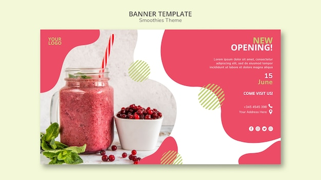 Smoothies theme banner template