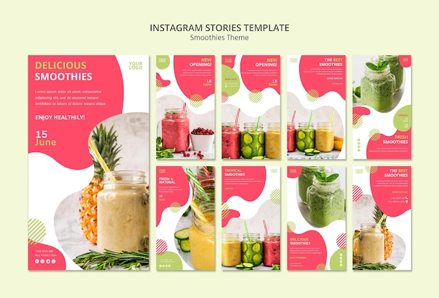 Smoothies theme instagram stories