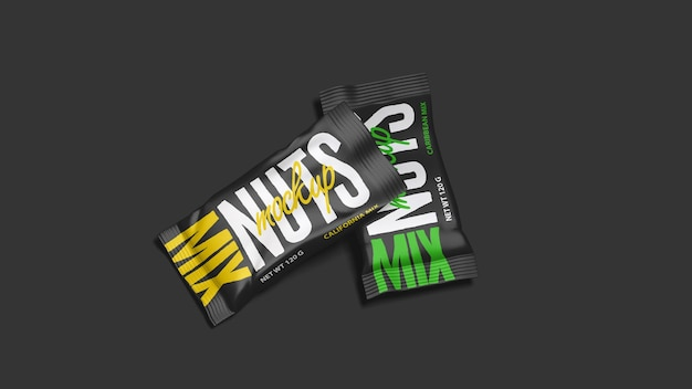 Snack bag mockup design rendering
