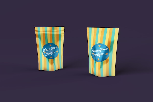 Snack bags psd mockup