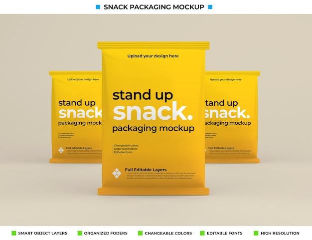 製品コンセプトのスナックボックス包装モックアップ