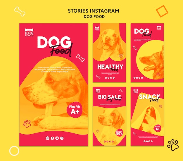 Snack dog food instagram stories