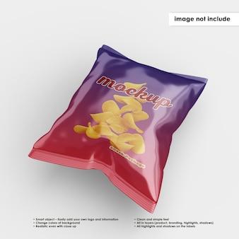 Макет пакета закусок изолированные