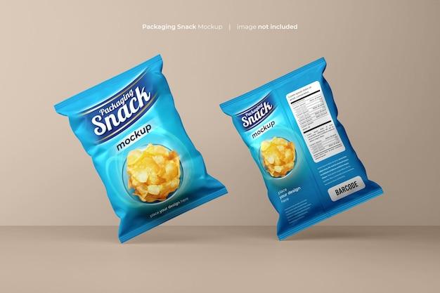 Пластиковый пакет для закусок mockup psd