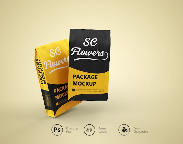 Snacks package mockup