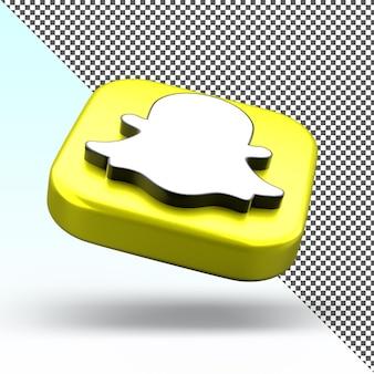 Snapchat3dアプリアイコン分離デザイン