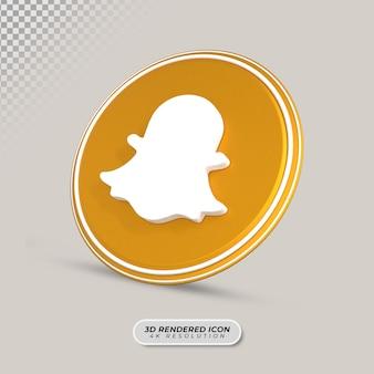 Snapchat3dレンダリングアイコン