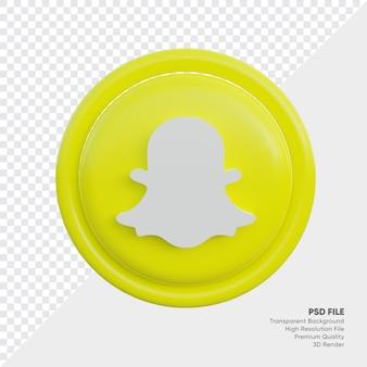 Snapchat 3d 스타일 로고 개념 아이콘 라운드 절연