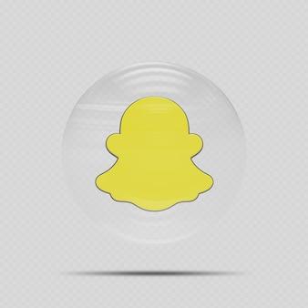 Значок snapchat в стеклянном стиле