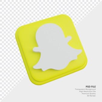 둥근 모서리 사각형 절연 snapchat 아이소메트릭 3d 스타일 로고 개념 아이콘