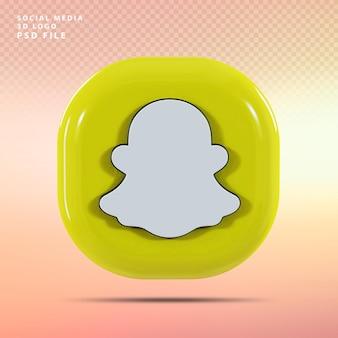 Snapchat логотип 3d визуализации роскоши