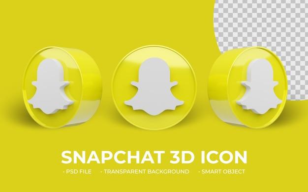 Snapchatロゴソーシャルメディア分離3dアイコン