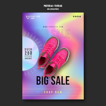 Sneakers sale ad template poster