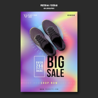 Sneakers sale flyer template