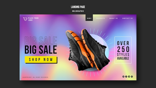 Sneakers sale landing page template