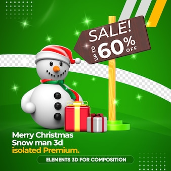 Snow man sale for composition rendering