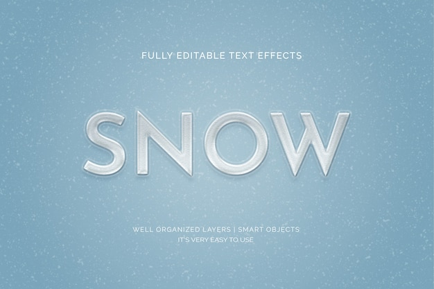 Snow text style effect