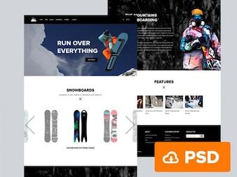 Snowboard PSD template