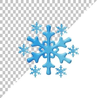 Снежинки 3d иллюстрация