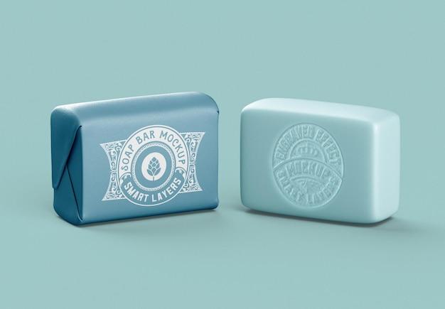 Soap bar package mockup