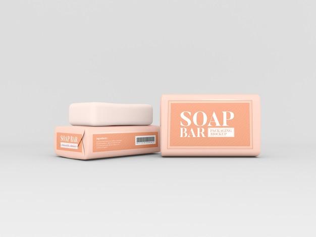 Soap bars packaging mockup