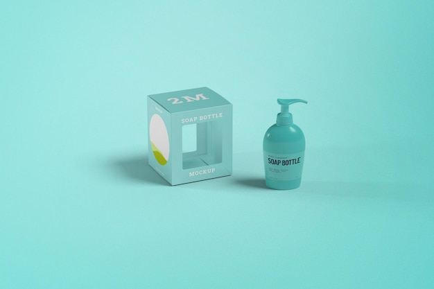 Макет мыльной бутылки