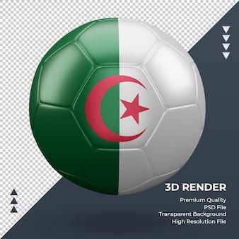 축구공 알제리 플래그 현실적인 3d 렌더링 전면 보기
