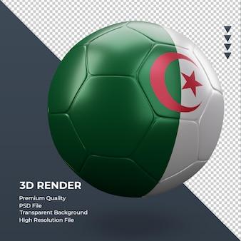 축구공 알제리 플래그 현실적인 3d 렌더링 왼쪽 보기