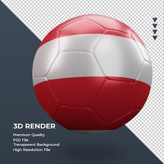 축구공 오스트리아 국기 현실적인 3d 렌더링 왼쪽 보기