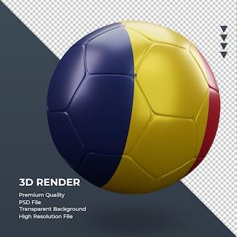 축구공 차드 플래그 현실적인 3d 렌더링 왼쪽 보기
