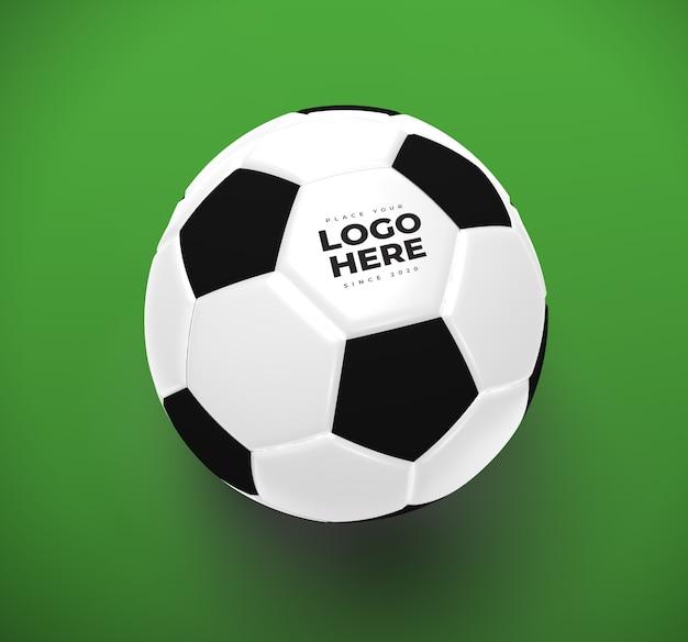 Soccer ball mockup closeup