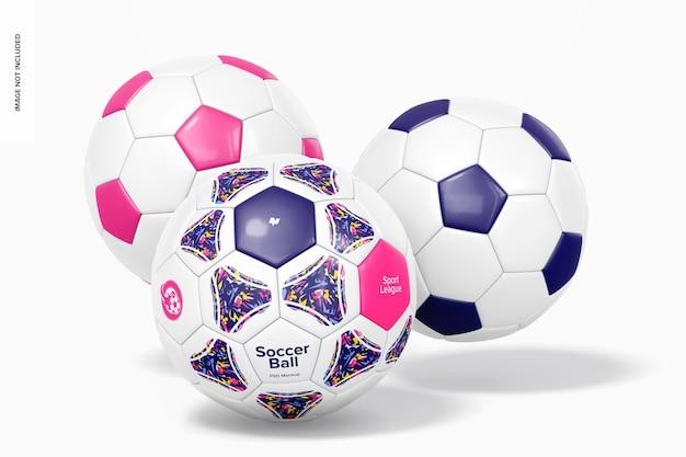 サッカーボールセットのモックアップ