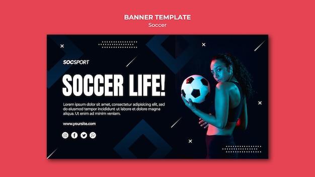 Soccer banner template
