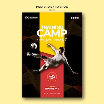 축구 클럽 훈련 캠프 포스터