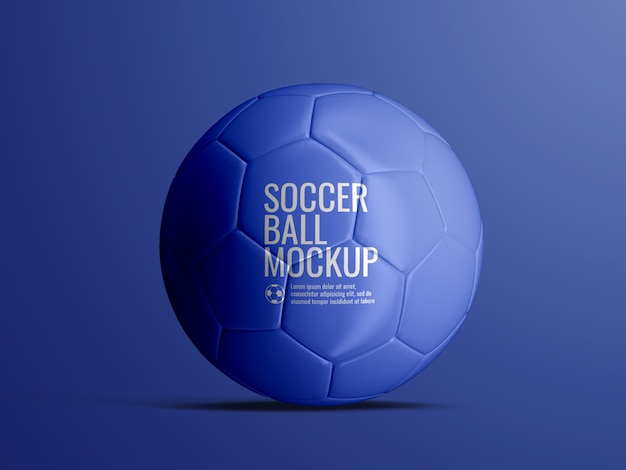 Soccer football ball mockup isolated