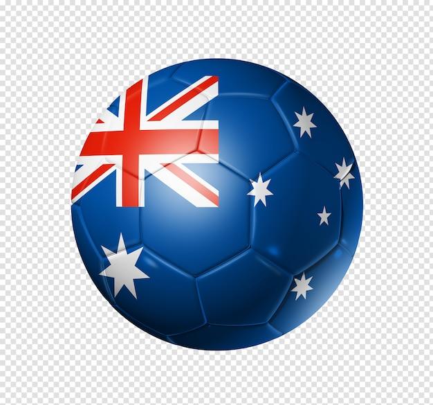 Soccer football ball with australia flag