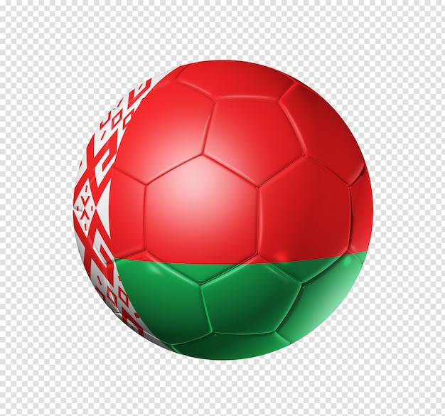 Soccer football ball with belarus flag