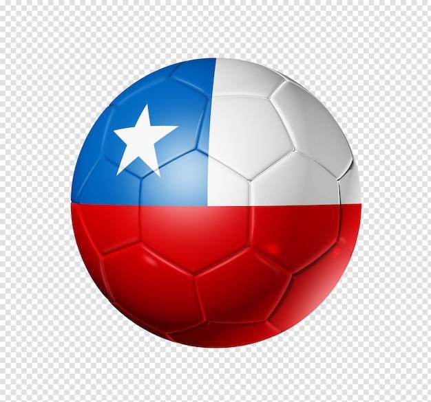 Футбольный мяч с флагом чили