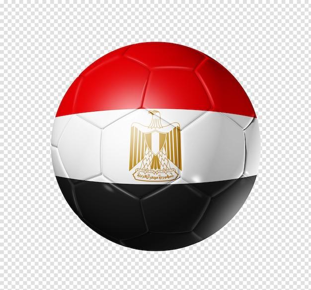 Soccer football ball with egypt flag