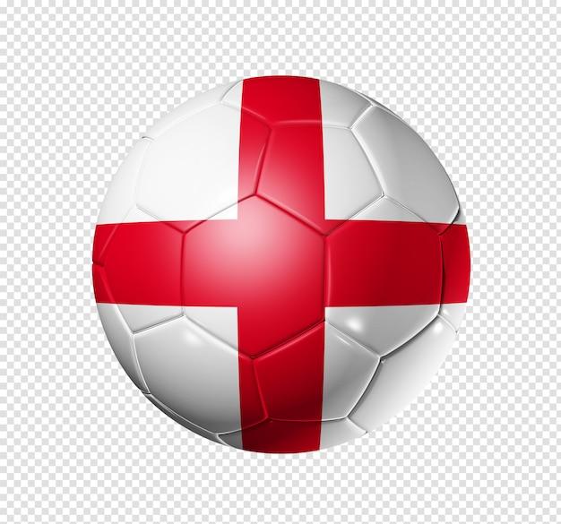영국 국기와 함께 축구 공 축구
