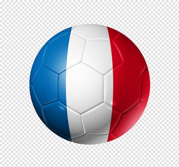 フランスの国旗とサッカーサッカーボール